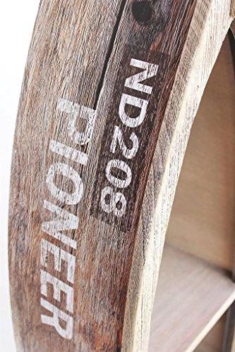 DanDiBo Regal Boot Bootsform Holz Antik MR16 Maritim Bootsregal Badregal Badschrank Braun Regal - 9