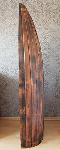 Exotisches Holz Bootsregal Regal Boot dunkelbraun 195cm - 3
