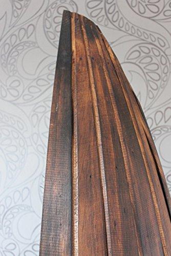 Exotisches Holz Bootsregal Regal Boot dunkelbraun 195cm - 5