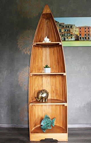 Exotisches Holz Bootsregal Regal Boot hellbraun 195cm - 2