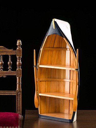 Regal Boot Holz Bootsregal Wandregal Schiff Maritime Deko Schrank 62cm - 2