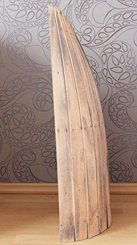 Naturesco Bootsregal Regal Boot Bootsform massiv Holz maritim antik weiss 95cm - 3