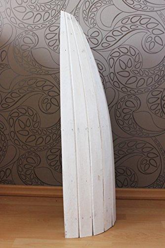 Naturesco Exotisches Bootsregal Regal Boot Holz weiß 95cm - 3