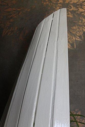Naturesco Exotisches Bootsregal Regal Boot Holz weiß 95cm - 5
