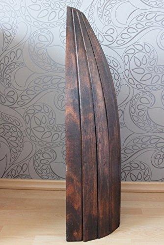 Naturesco Exotisches Bootsregal Regal Boot Holz dunkelbraun 95cm - 3