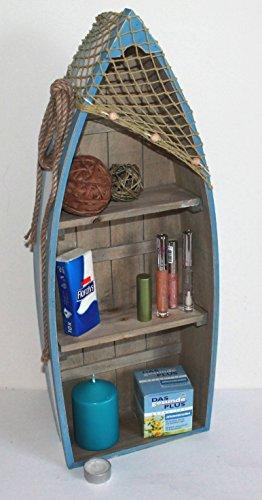 AAF Nommel ® Boot Regal 61 x 24 x 9 cm, Kiefernholz, Maritim Dekor im Shabby Look, Nr. 013 - 3