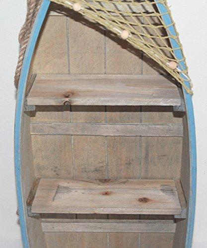 AAF Nommel ® Boot Regal 61 x 24 x 9 cm, Kiefernholz, Maritim Dekor im Shabby Look, Nr. 013 - 4