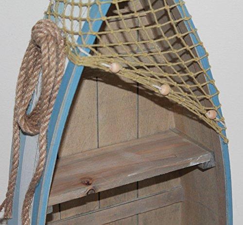 AAF Nommel ® Boot Regal 61 x 24 x 9 cm, Kiefernholz, Maritim Dekor im Shabby Look, Nr. 013 - 5
