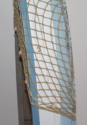 AAF Nommel ® Boot Regal 61 x 24 x 9 cm, Kiefernholz, Maritim Dekor im Shabby Look, Nr. 013 - 6