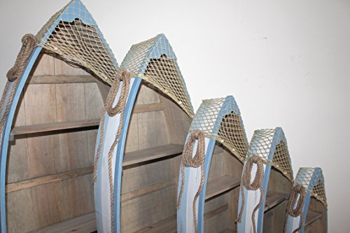 AAF Nommel ® Boot Regal 61 x 24 x 9 cm, Kiefernholz, Maritim Dekor im Shabby Look, Nr. 013 - 9