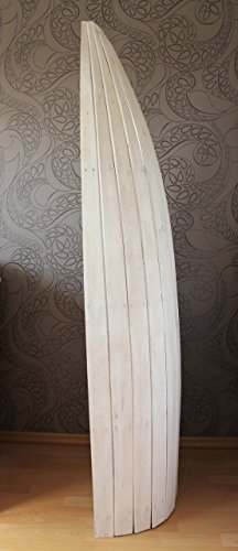 Exotisches Holz Bootsregal Regal Boot weiss 195cm - 3