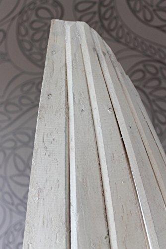 Exotisches Holz Bootsregal Regal Boot weiss 195cm - 5