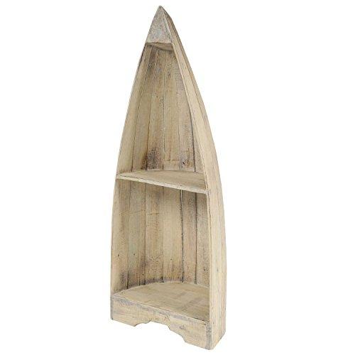 Oriental Galerie Boot Regal Wandregal Standregal Aufbewahrung Konsole Bord Albesia Holz ca. 95 cm Natur Whitewash - 3
