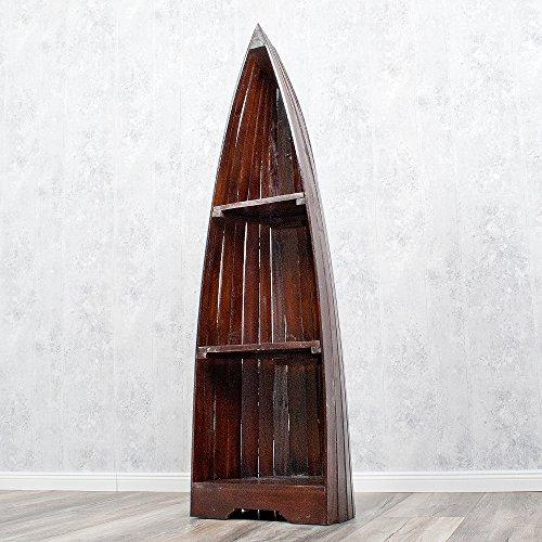 Bootsregal BAROS Dekoregal Holzregal Boot Regal Bücherregal 145cm Shabby - 3