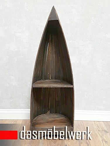 dasmöbelwerk Bootsregal Bali Dekoregal Holzregal Boot Regal Bücherregal H 96 cm Shabby - 2