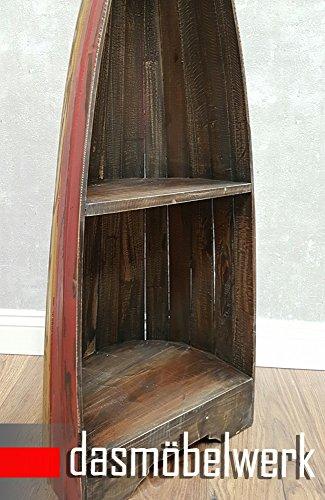 dasmöbelwerk Bootsregal Bali Dekoregal Holzregal Boot Regal Bücherregal H 96 cm Shabby - 3
