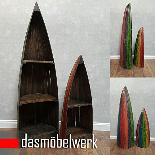 dasmöbelwerk Bootsregal Bali Dekoregal Holzregal Boot Regal Bücherregal H 96 cm Shabby - 4