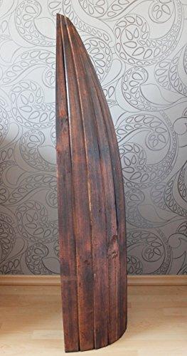 Naturesco Exotisches Bootsregal Regal Boot Holz braun dunkelbraun 145cm - 4