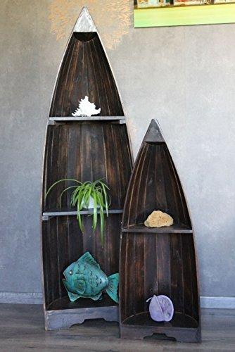 Bootsregal Set - Holz dunkelbraun 145cm und 95cm