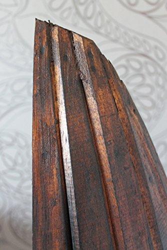 Exotisches Set Bootsregal Regal Boot Holz dunkelbraun 145cm und 95cm - 2