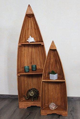 Exotisches Set Holz Bootsregal hellbraun 145cm & 95cm