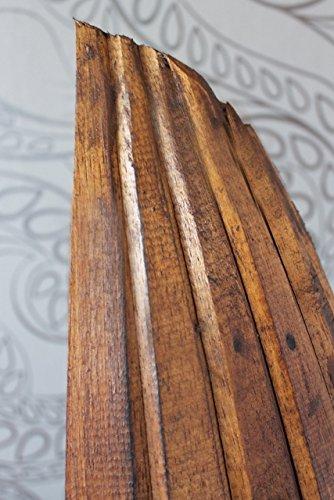 Exotisches Set Holz Regal Bootsregal Boot Bootsform braun hellbraun 145cm & 95cm - 5