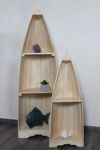 Naturesco Exotisches Set Bootsregal Regal Boot Holz natur 145cm und 95cm - 2