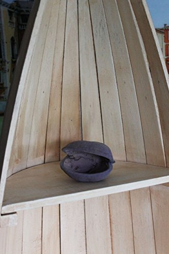 Naturesco Exotisches Set Bootsregal Regal Boot Holz natur 145cm und 95cm - 5