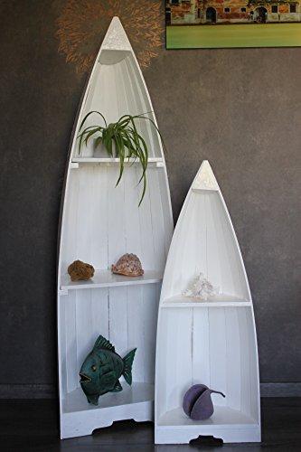 Exotisches Set Bootsregal weiß 145cm und 95cm