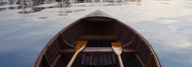 Braunes Ruderboot